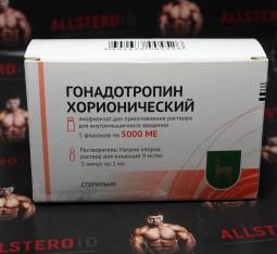 Гонадотропин Хорионический (цена за 1 флакон по 5000ед + растовор)