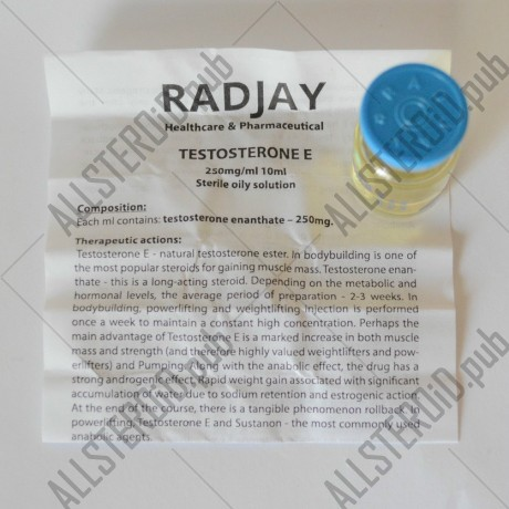 Testosterone E 250 по 10мл (Radjay)